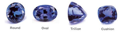 Faceted Tanzanite Shapes